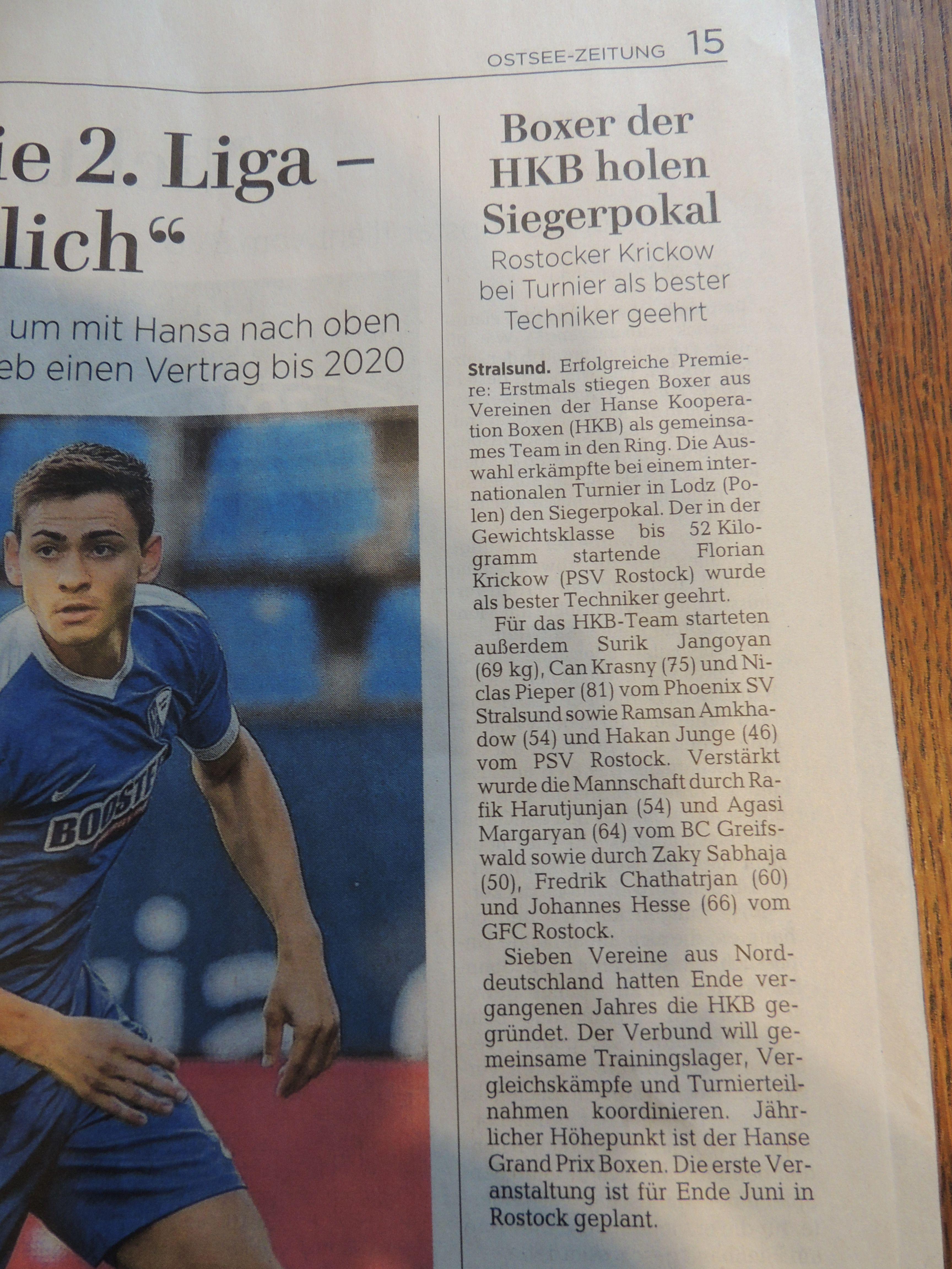 Ostsee-Zeitung 30.01.2018